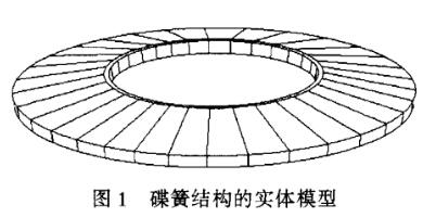 图1 碟簧结构的实体模型