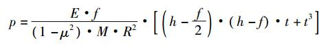 碟簧的压缩变形量 f 与预紧力 p 的关系式